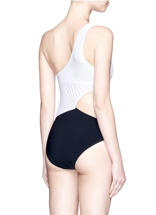 Back View - Click To Enlarge - Araks - 'Elmar' cutout one-shoulder swimsuit