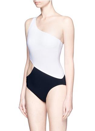 Figure View - Click To Enlarge - Araks - 'Elmar' cutout one-shoulder swimsuit