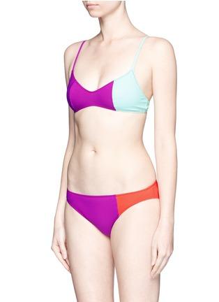 Figure View - Click To Enlarge - Araks - 'Elsa' colourblock bikini set