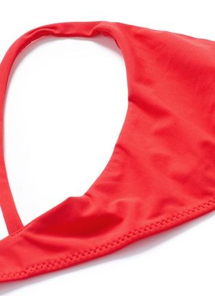Detail View - Click To Enlarge - Araks - 'Elsa' double keyhole strap bikini set