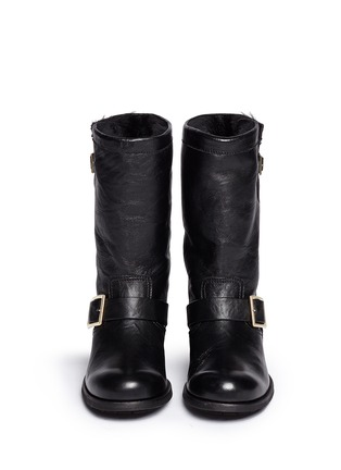 Figure View - Click To Enlarge - Jimmy Choo - 'Biker' rabbit fur leather boots