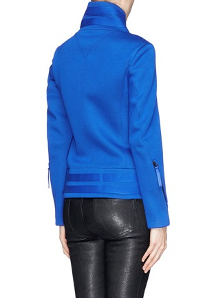 Back View - Click To Enlarge - Helmut Lang - 'Crossover blouson' scuba jersey jacket