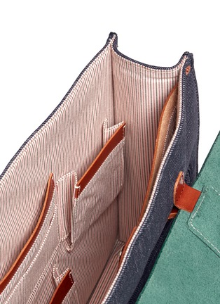 Detail View - Click To Enlarge - SEVENTY EIGHT PERCENT - Dimitri medium leather denim satchel