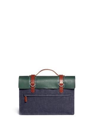 Back View - Click To Enlarge - SEVENTY EIGHT PERCENT - Dimitri medium leather denim satchel