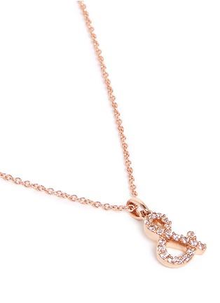 Figure View - Click To Enlarge - KHAI KHAI - 'And &' diamond pendant necklace
