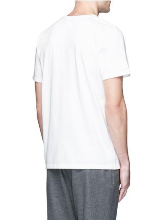 Back View - Click To Enlarge - Maison Kitsuné - Fox embroidery cotton T-shirt