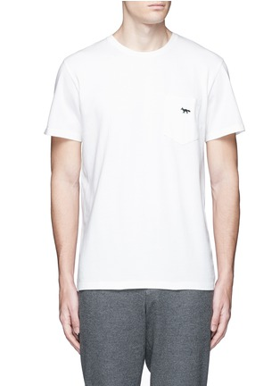 Main View - Click To Enlarge - Maison Kitsuné - Fox embroidery cotton T-shirt