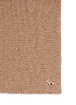 Detail View - Click To Enlarge - Maison Kitsuné - Extrafine wool-baby camel scarf