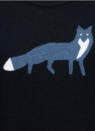 Detail View - Click To Enlarge - MAISON KITSUNÉ - Fox intarsia wool sweater