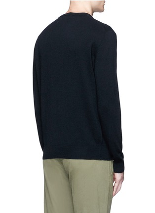 Back View - Click To Enlarge - MAISON KITSUNÉ - Fox intarsia wool sweater