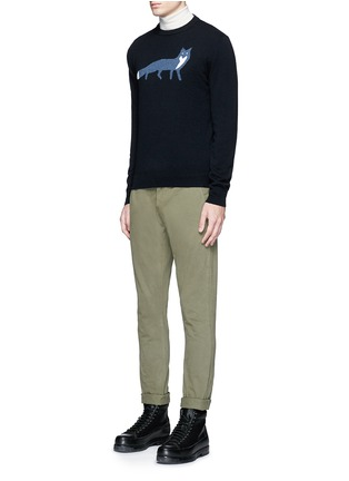 Figure View - Click To Enlarge - MAISON KITSUNÉ - Fox intarsia wool sweater