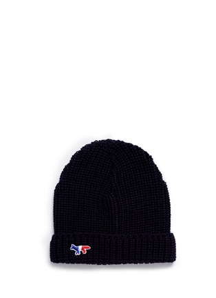 Main View - Click To Enlarge - Maison Kitsuné - Fox patch wool beanie