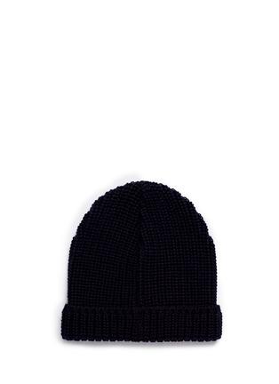 Figure View - Click To Enlarge - Maison Kitsuné - Fox patch wool beanie