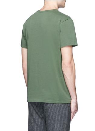 Back View - Click To Enlarge - Maison Kitsuné - 'JE SUIS ALLÉ AU COLLÈGE KITSUNÉ' print T-shirt