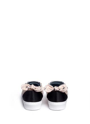 Back View - Click To Enlarge - Chiara Ferragni - Bandana print eye embroidery skate slip-ons