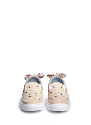 Front View - Click To Enlarge - Chiara Ferragni - Bandana print eye embroidery skate slip-ons