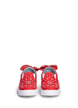 Front View - Click To Enlarge - Chiara Ferragni - Bandana print eye embroidery skate slip-ons