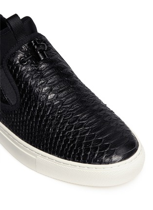 Detail View - Click To Enlarge - Ash - 'Loops' python embossed leather skate slip-ons