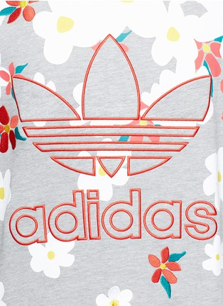 Detail View - Click To Enlarge - adidas By Pharrell Williams - 'Daisy' logo embroidered sweatshirt