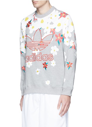 Front View - Click To Enlarge - ADIDAS BY PHARRELL WILLIAMS - 'Daisy' logo embroidered sweatshirt