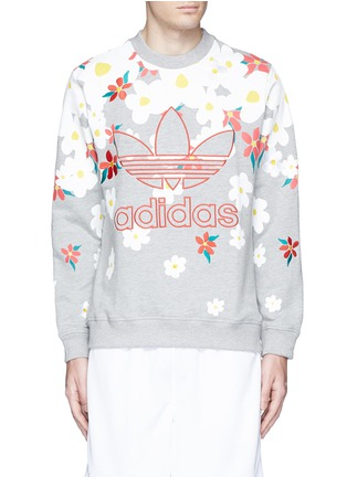 Main View - Click To Enlarge - ADIDAS BY PHARRELL WILLIAMS - 'Daisy' logo embroidered sweatshirt