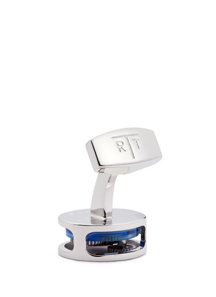 Detail View - Click To Enlarge - Tateossian - Gear Perspex® glass inlay cufflinks