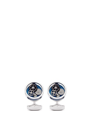 Main View - Click To Enlarge - Tateossian - Gear Perspex® glass inlay cufflinks