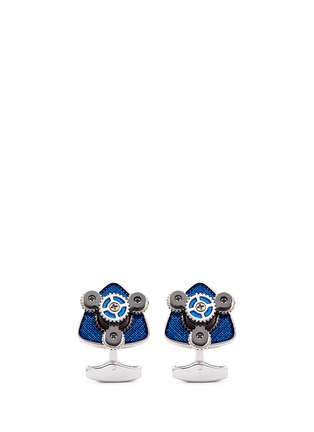 Main View - Click To Enlarge - Tateossian - Rotating trio gear cufflinks