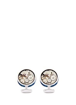 Main View - Click To Enlarge - Tateossian - 'Skeleton Movement' enamel limited edition cufflinks
