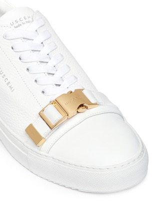 Detail View - Click To Enlarge - Buscemi Shoes - '50MM' buckle strap leather sneakers