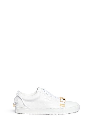 Main View - Click To Enlarge - Buscemi Shoes - '50MM' buckle strap leather sneakers