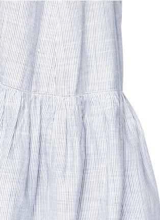Detail View - Click To Enlarge - Lisa Marie Fernandez - 'Mira' button down off-shoulder flounce dress