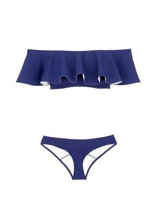 Main View - Click To Enlarge - Lisa Marie Fernandez - 'Mira' flounce neoprene bandeau set