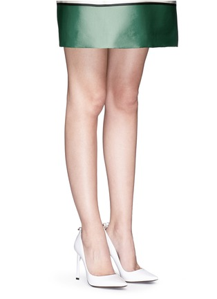 Figure View - Click To Enlarge - Lanvin - Faux pearl Spazzolato leather pumps