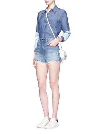 Figure View - Click To Enlarge - Vince - Colourblock chambray shirt
