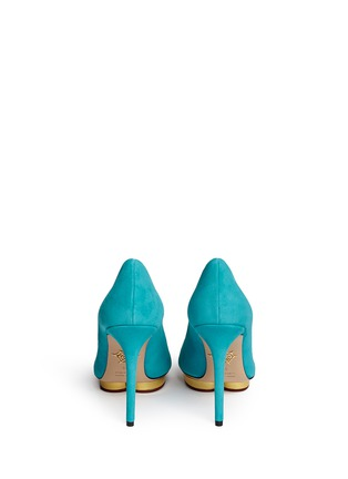 Back View - Click To Enlarge - Charlotte Olympia - 'Debbie' suede pumps