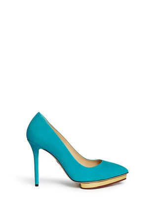 Main View - Click To Enlarge - Charlotte Olympia - 'Debbie' suede pumps