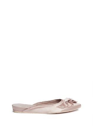 Main View - Click To Enlarge - Pedro García - 'Alia' ruffled satin slippers