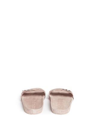 Back View - Click To Enlarge - Pedro García - 'Amelin' satin crystal slide sandals