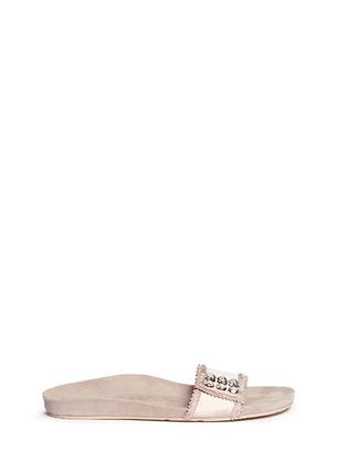 Main View - Click To Enlarge - Pedro García - 'Amelin' satin crystal slide sandals