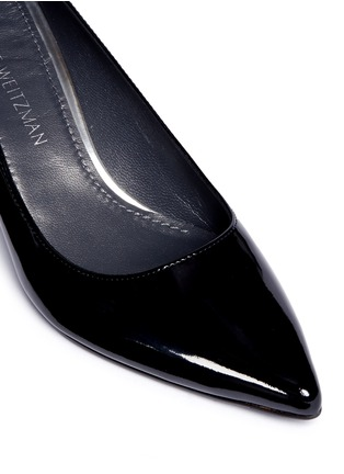 Detail View - Click To Enlarge - Stuart Weitzman - 'First Class' patent leather pumps