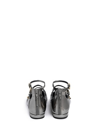 Back View - Click To Enlarge - Stuart Weitzman - 'Flippy' mirror leather Mary Jane flats