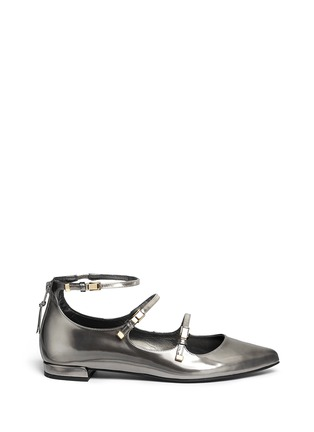 Main View - Click To Enlarge - Stuart Weitzman - 'Flippy' mirror leather Mary Jane flats
