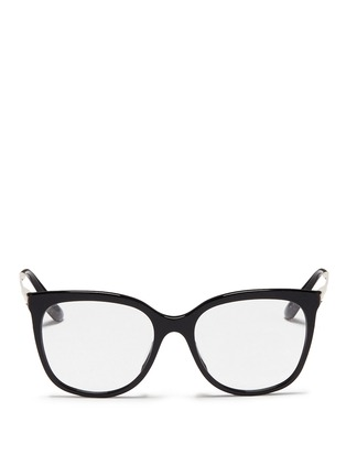 Main View - Click To Enlarge - Dolce & Gabbana - Metal temple acetate optical glasses