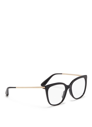 Figure View - Click To Enlarge - Dolce & Gabbana - Metal temple acetate optical glasses