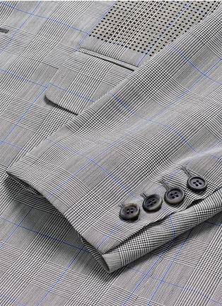 - OAMC - Lasercut panel Glen plaid virgin wool blazer