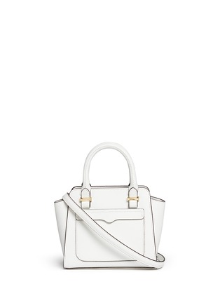 Main View - Click To Enlarge - REBECCA MINKOFF - 'Avery' micro saffiano leather tote bag