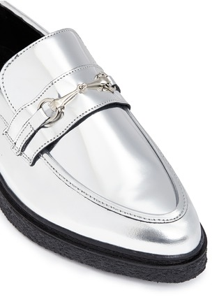 Detail View - Click To Enlarge - Opening Ceremony - 'Sloan' mirror leather creeper loafers