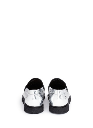 Back View - Click To Enlarge - Opening Ceremony - 'Sloan' mirror leather creeper loafers