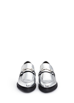 Front View - Click To Enlarge - Opening Ceremony - 'Sloan' mirror leather creeper loafers